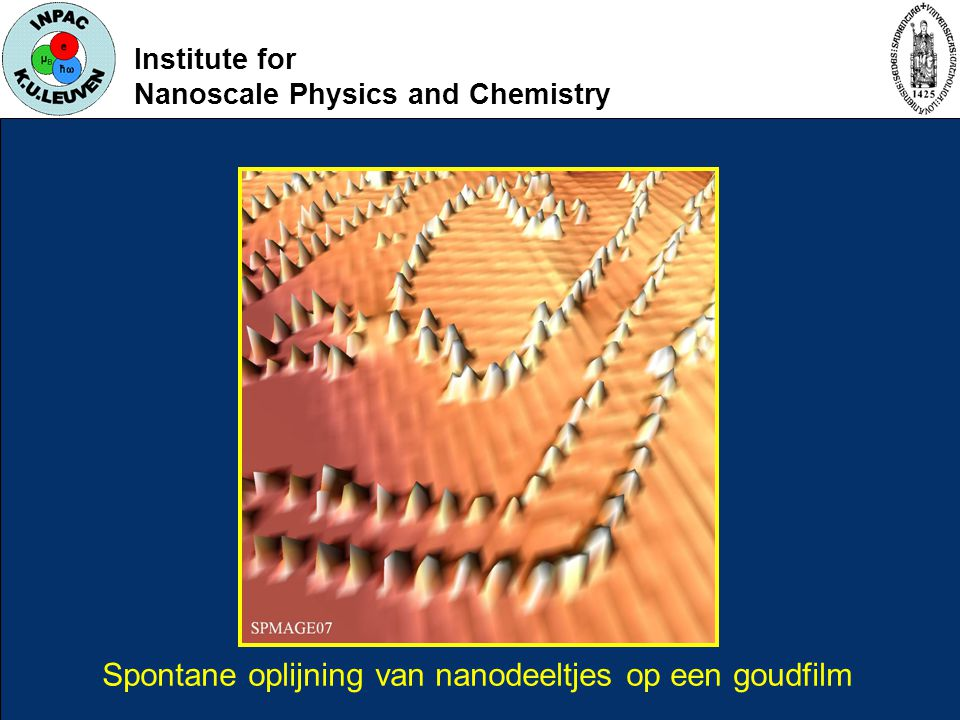 Institute for Nanoscale Physics and Chemistry Spontane oplijning van nanodeeltjes op een goudfilm