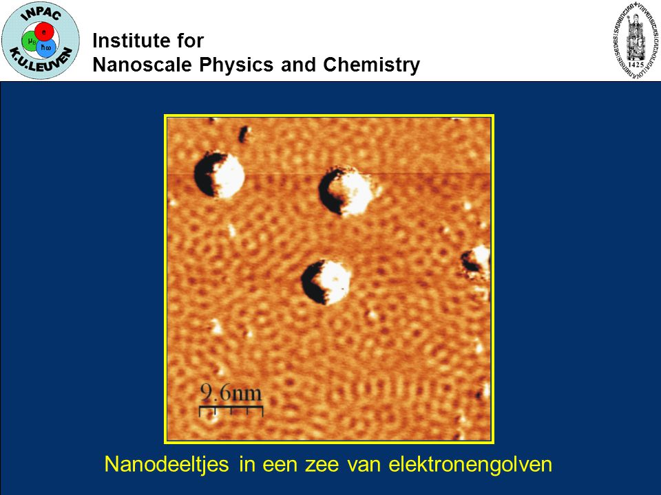 Institute for Nanoscale Physics and Chemistry Nanodeeltjes in een zee van elektronengolven