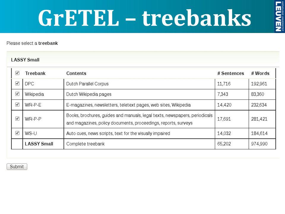 GrETEL – treebanks