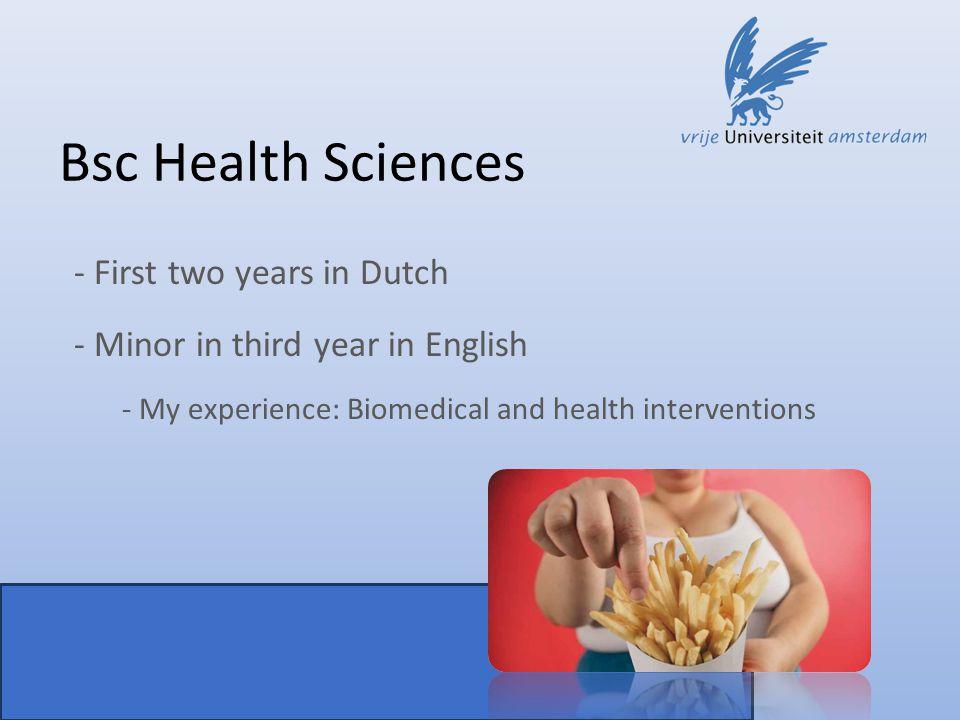 Msc BioMolecular Sciences Why VU university.
