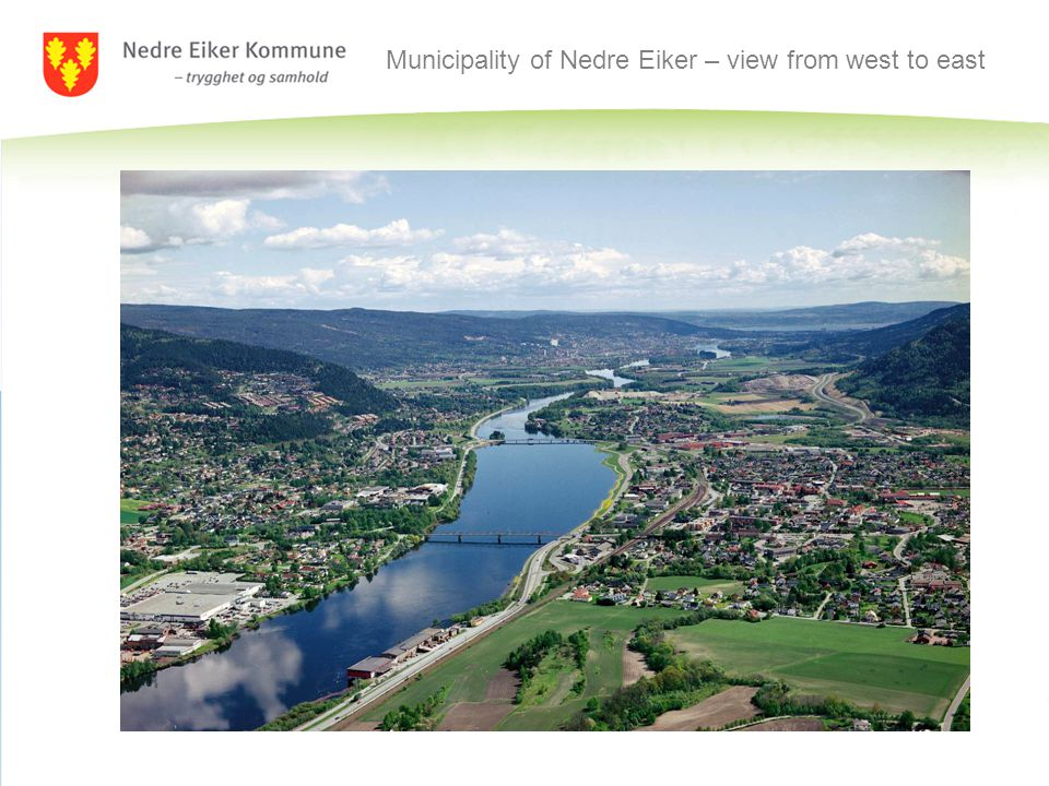 Municipality of Nedre Eiker – view from west to east