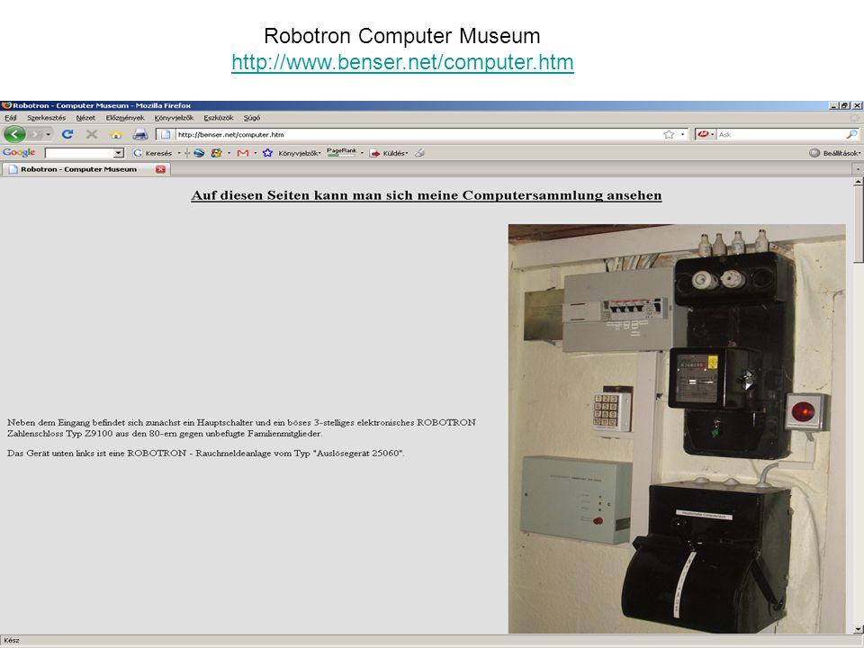 Robotron Computer Museum http://www.benser.net/computer.htm