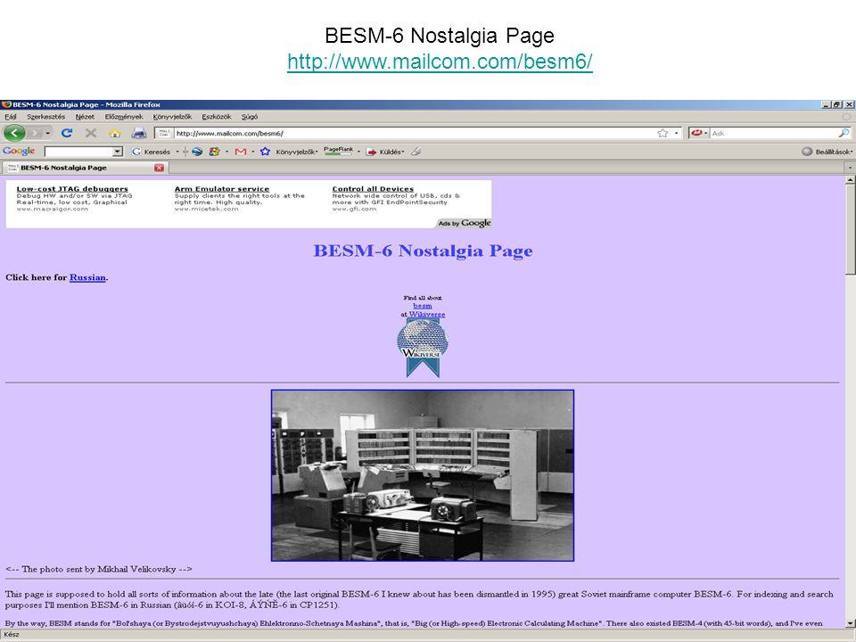 BESM-6 Nostalgia Page http://www.mailcom.com/besm6/