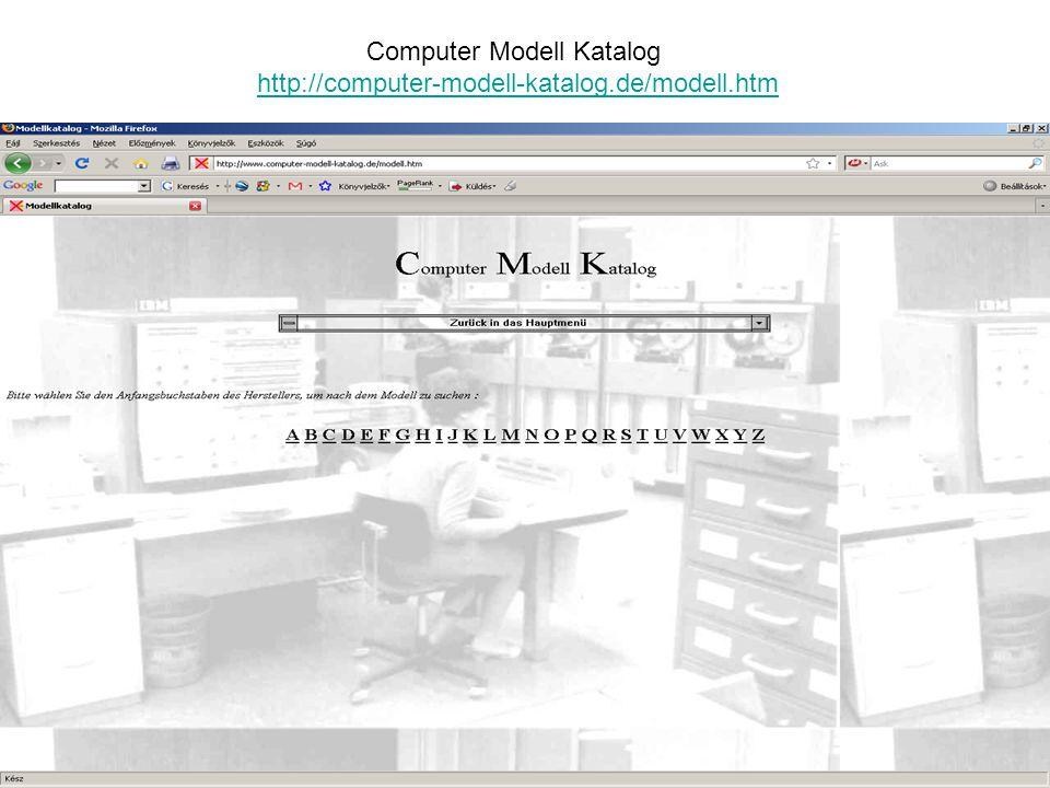 Computer Modell Katalog http://computer-modell-katalog.de/modell.htm