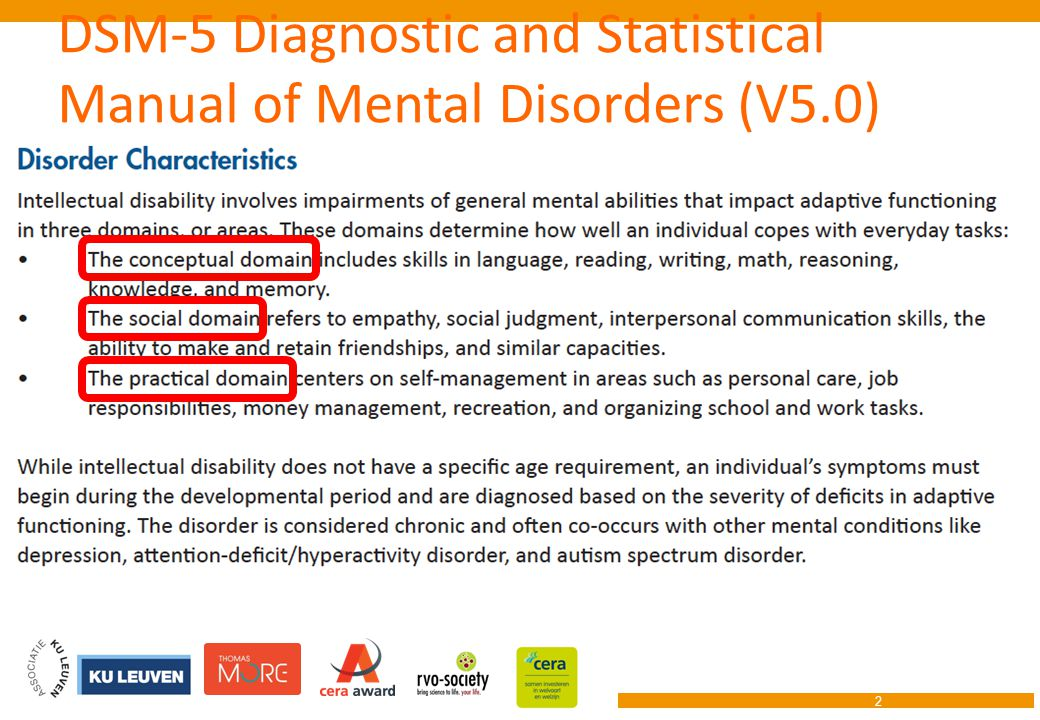DSM-5 Diagnostic and Statistical Manual of Mental Disorders (V5.0) 2
