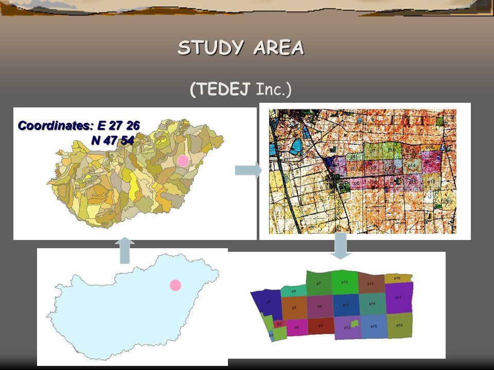 Coordinates: E 27 26 N 47 54 N 47 54 STUDY AREA (TEDEJ Inc.)