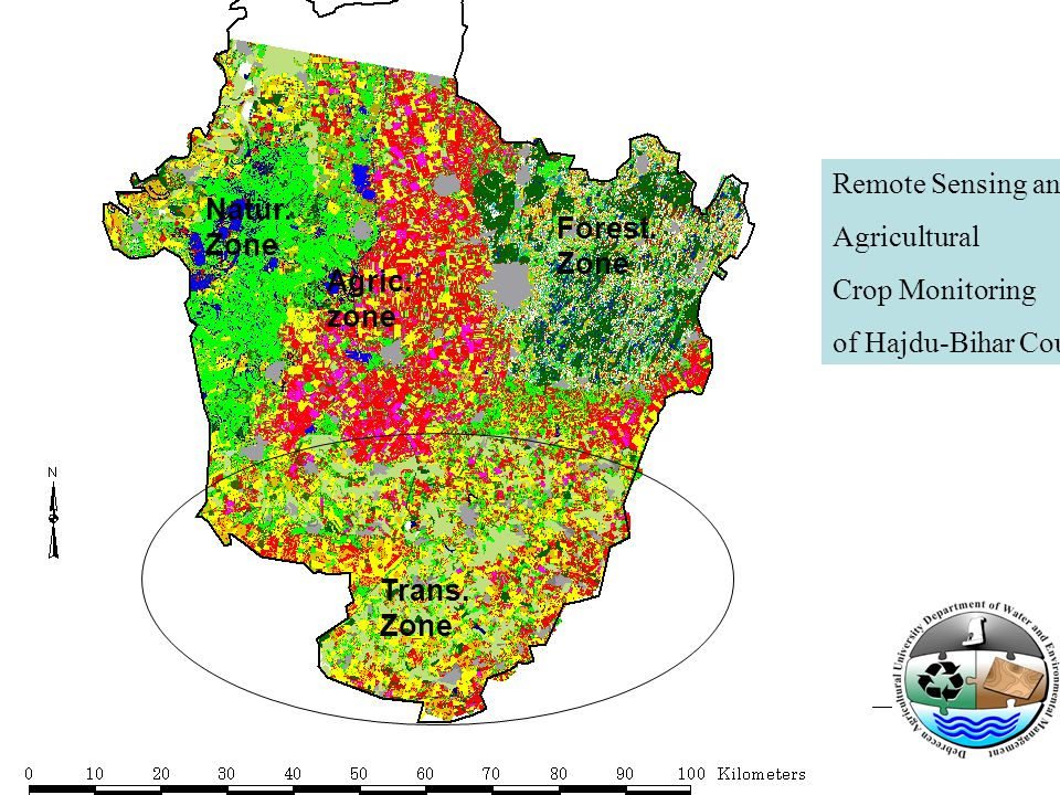 Agric. zone Natur. Zone Trans. Zone Forest. Zone Remote Sensing and Agricultural Crop Monitoring of Hajdu-Bihar County