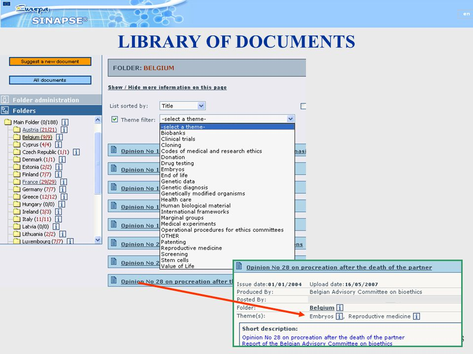 28 LIBRARY OF DOCUMENTS