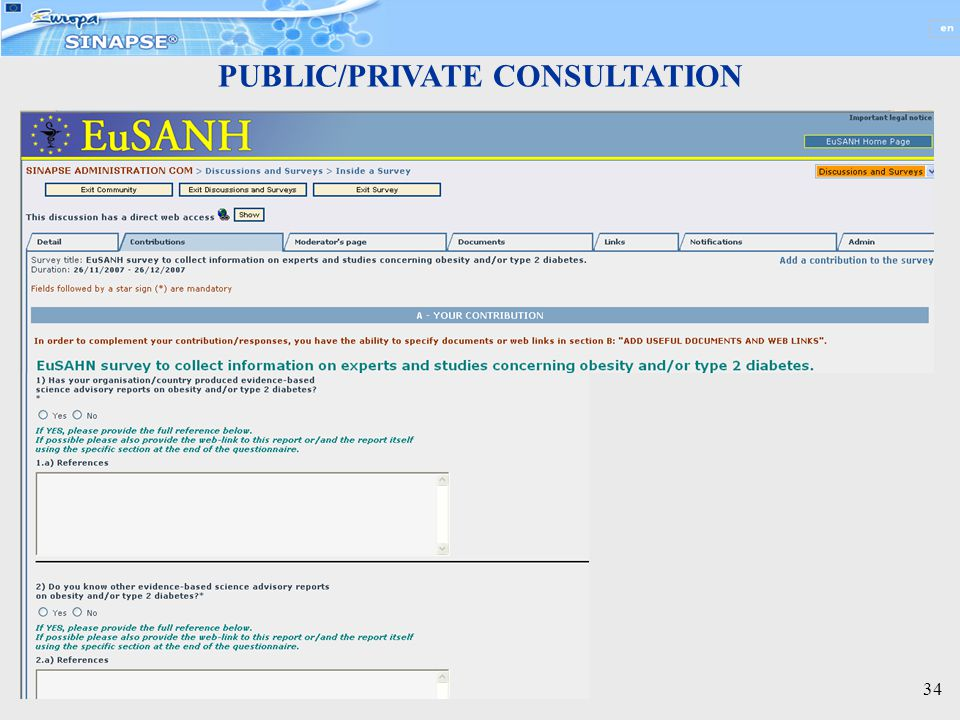 34 PUBLIC/PRIVATE CONSULTATION