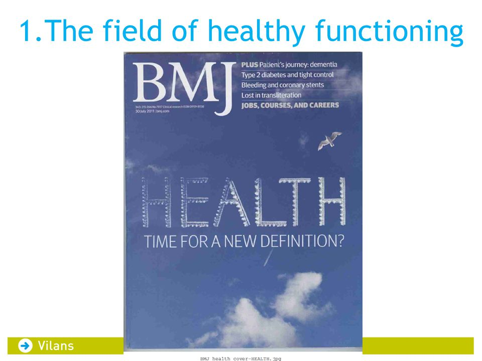 1.The field of healthy functioning