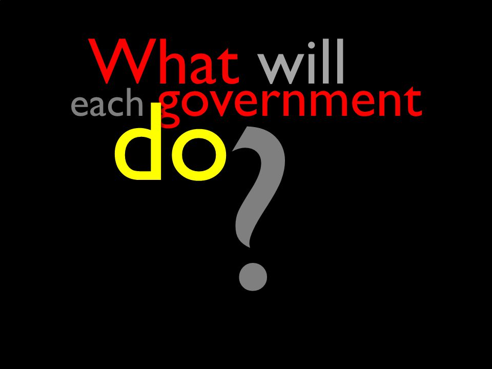 each government ? do do What will