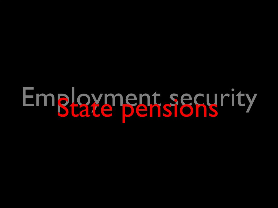 Employment security State pensions