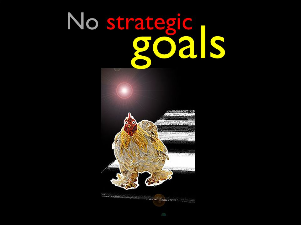 No strategic goals