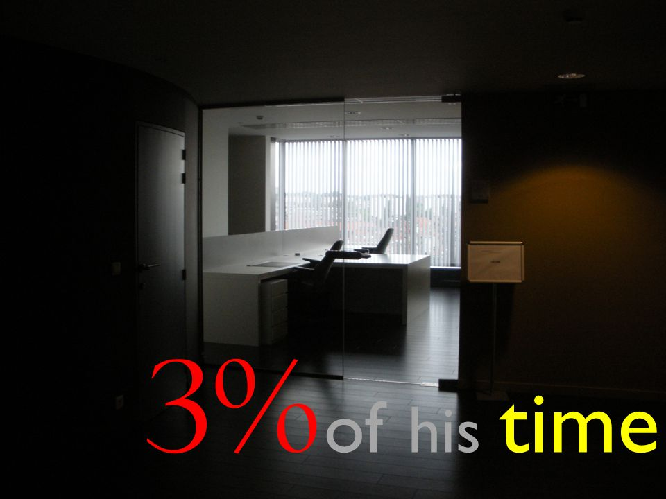 3% of his time