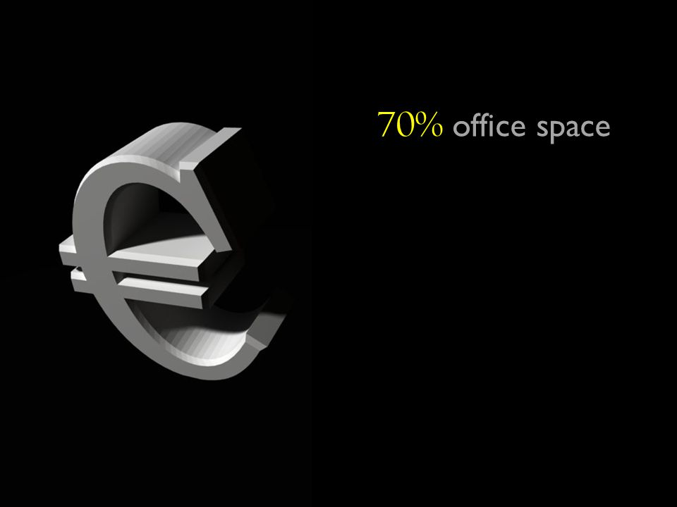 70% office space