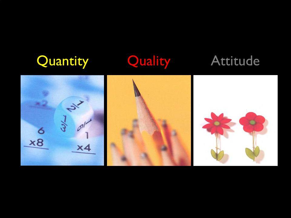 QuantityQualityAttitude