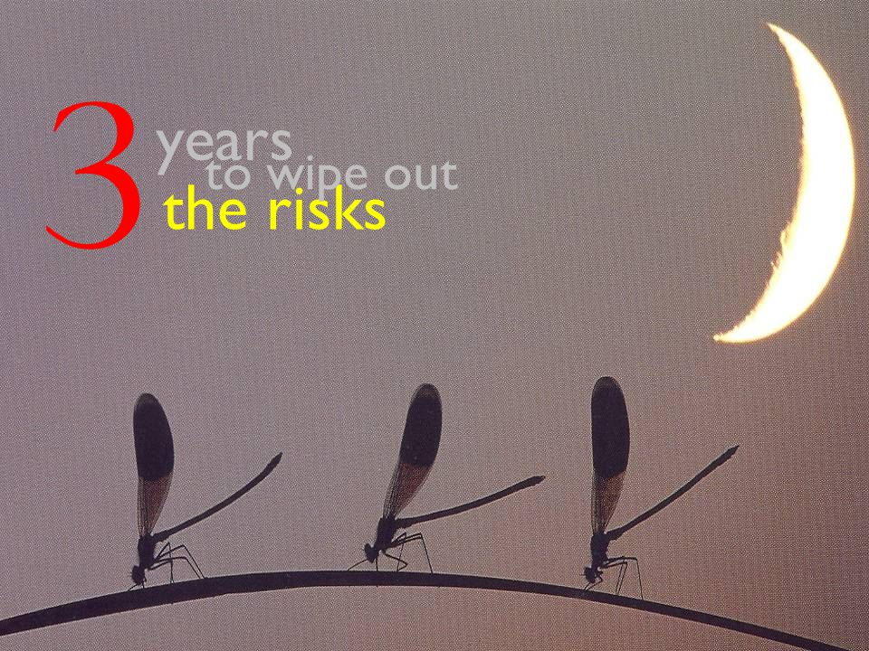 3 years the risks to wipe out