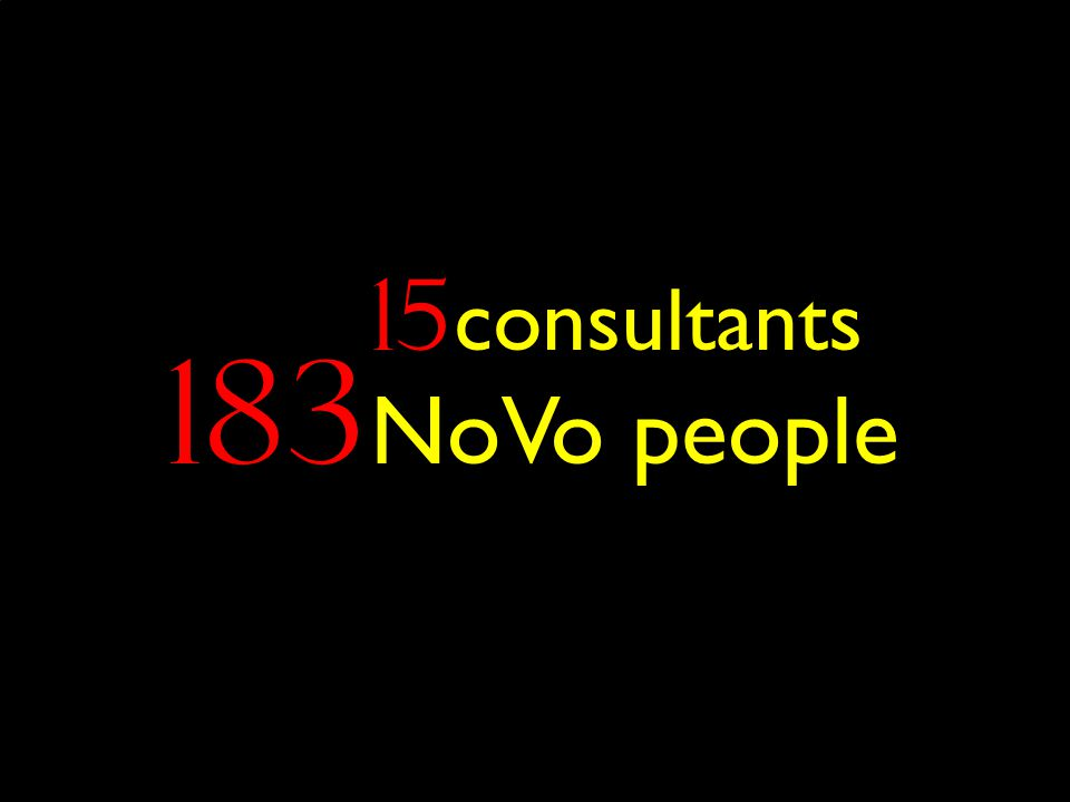 183 NoVo people 15 consultants