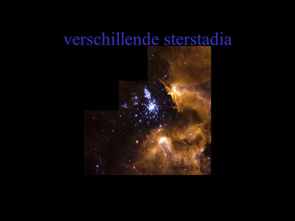 verschillende sterstadia