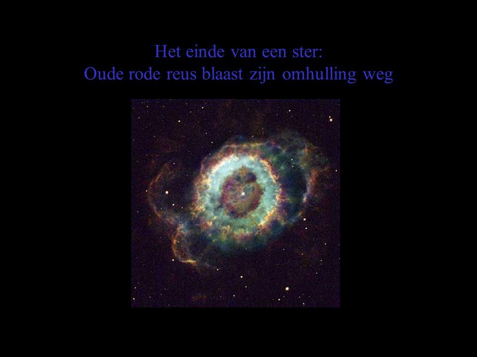 Het einde van een ster: Oude rode reus blaast zijn omhulling weg