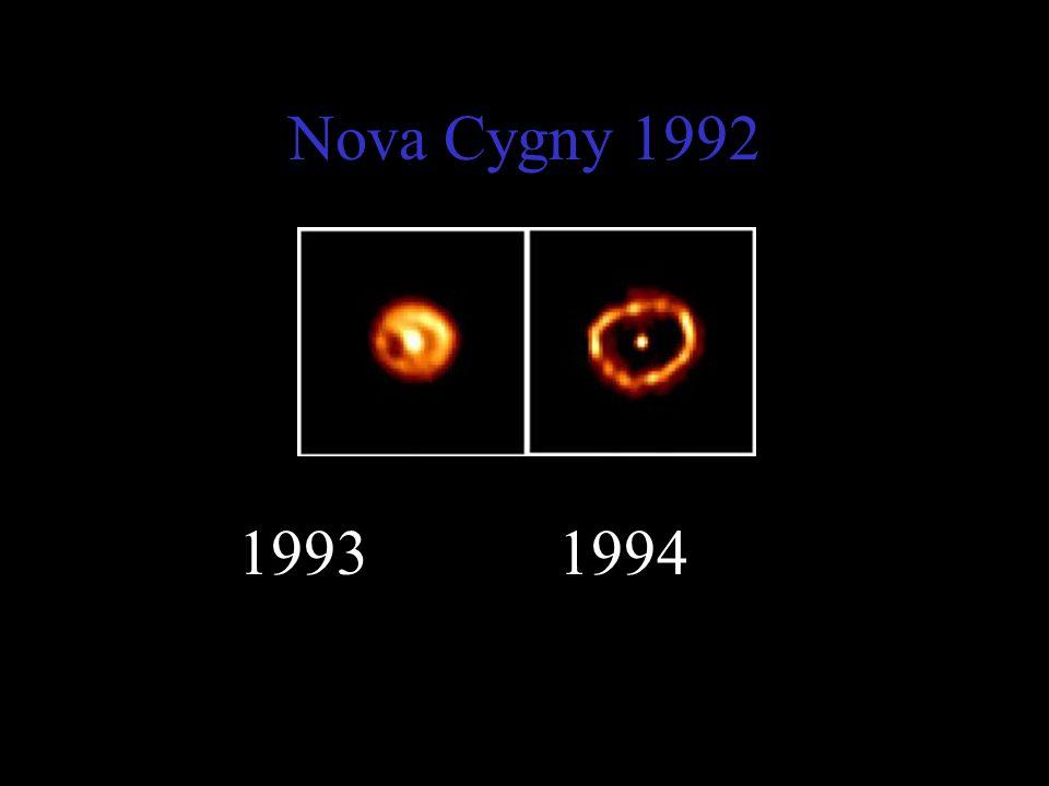 Nova Cygny 1992 1993 1994
