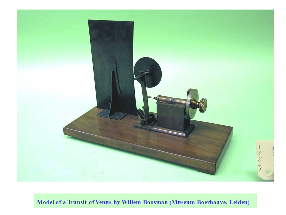 Model of a Transit of Venus by Willem Boosman (Museum Boerhaave, Leiden)