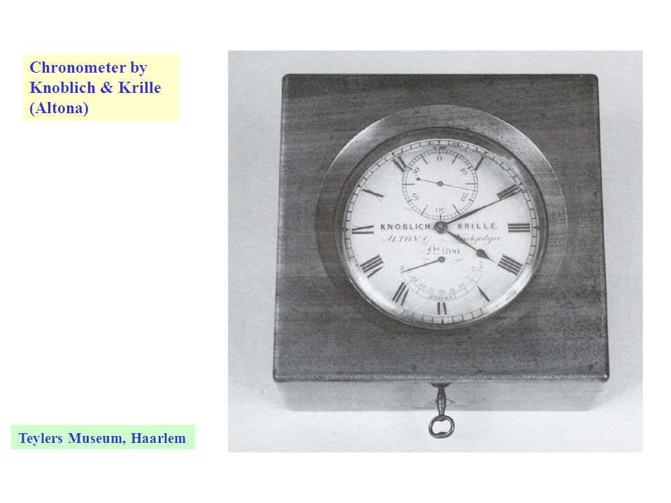 Chronometer by Knoblich & Krille (Altona) Teylers Museum, Haarlem