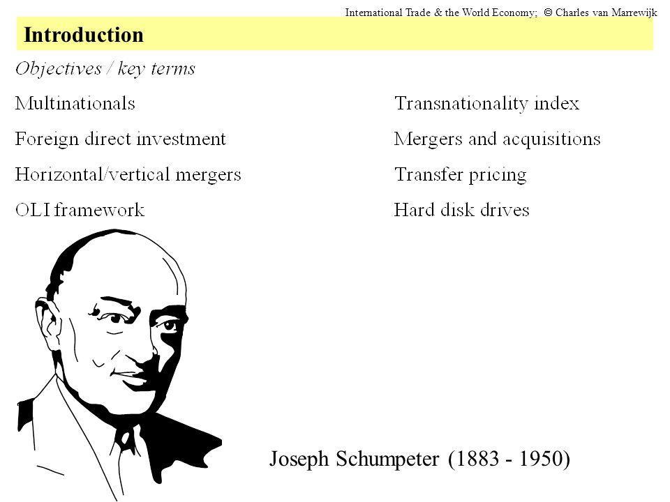 Introduction International Trade & the World Economy;  Charles van Marrewijk Joseph Schumpeter (1883 - 1950)