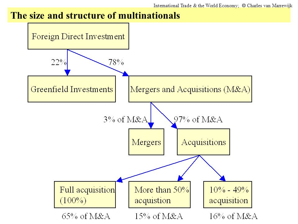 The size and structure of multinationals International Trade & the World Economy;  Charles van Marrewijk