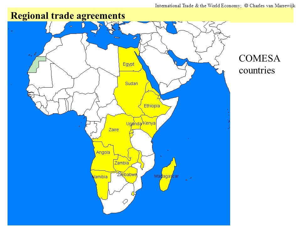 Regional trade agreements International Trade & the World Economy;  Charles van Marrewijk COMESA countries