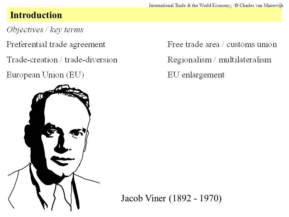 Introduction International Trade & the World Economy;  Charles van Marrewijk Jacob Viner (1892 - 1970)
