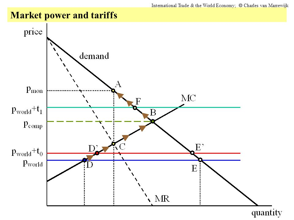 Market power and tariffs International Trade & the World Economy;  Charles van Marrewijk