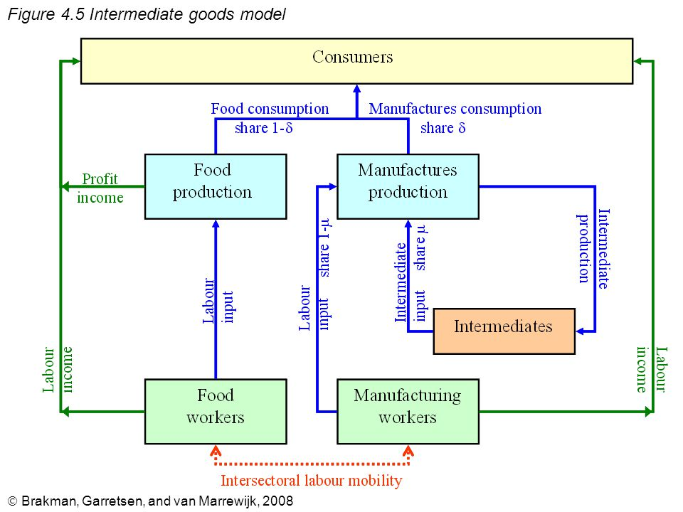 Brakman, Garretsen, and van Marrewijk, 2008 Figure 4.5 Intermediate goods model