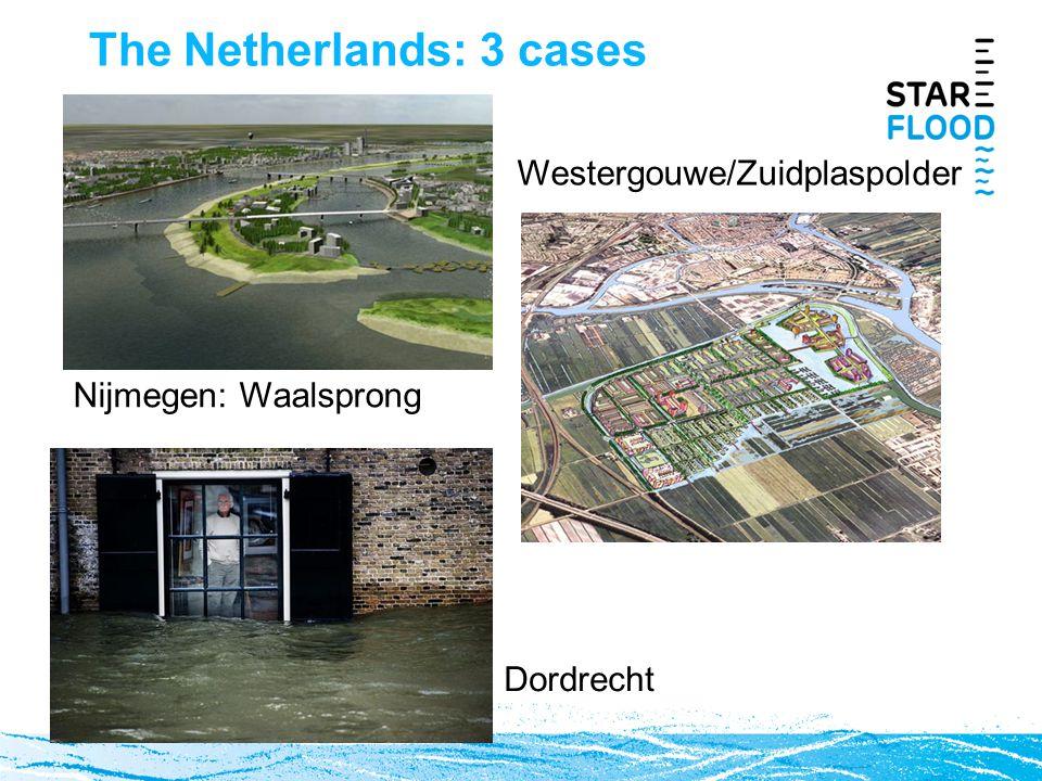 The Netherlands: 3 cases Westergouwe/Zuidplaspolder Nijmegen: Waalsprong Dordrecht