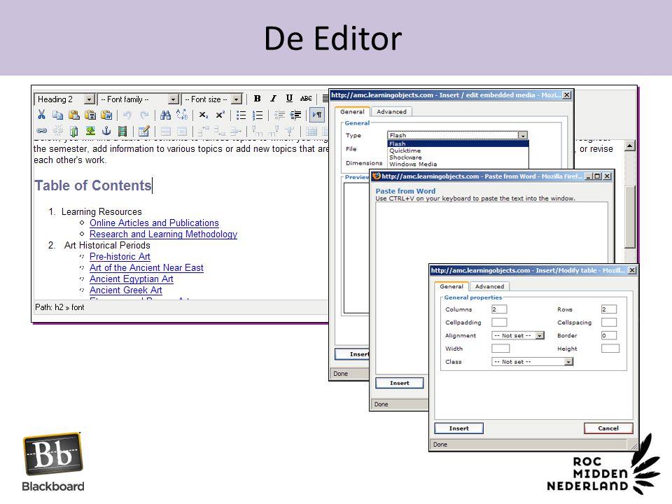 De Editor