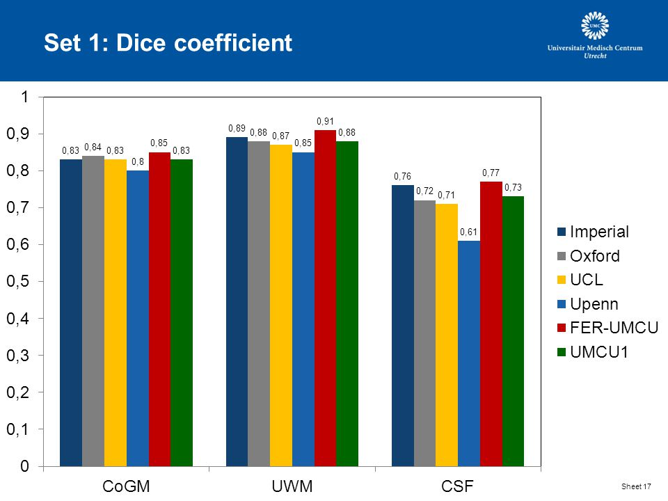 Set 1: Dice coefficient Sheet 17