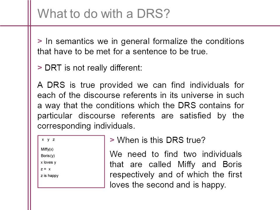 What to do with a DRS.