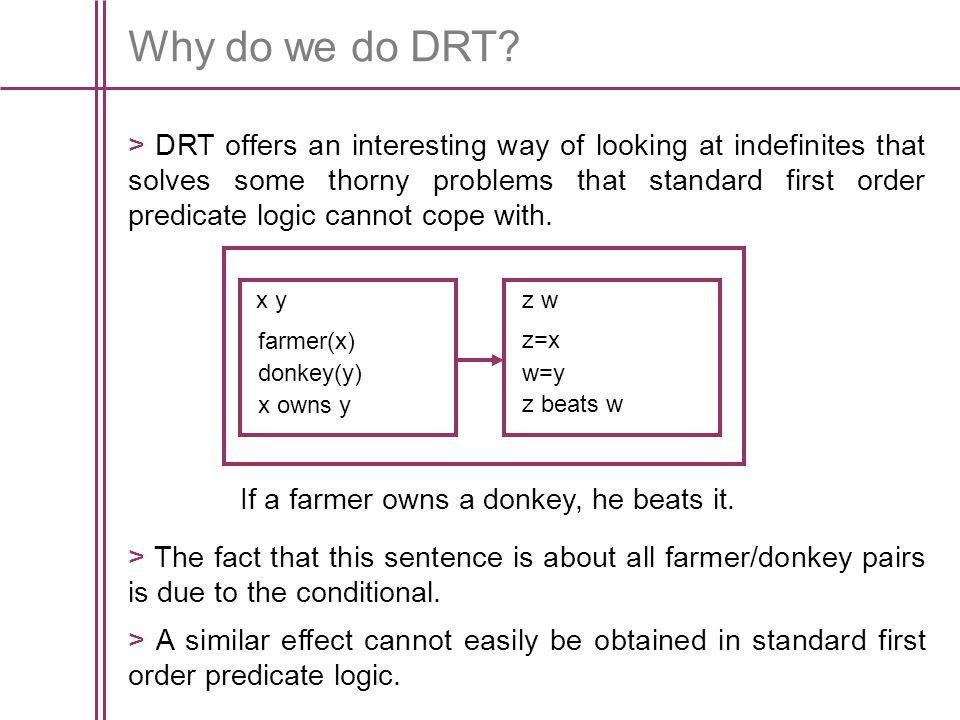 Why do we do DRT.