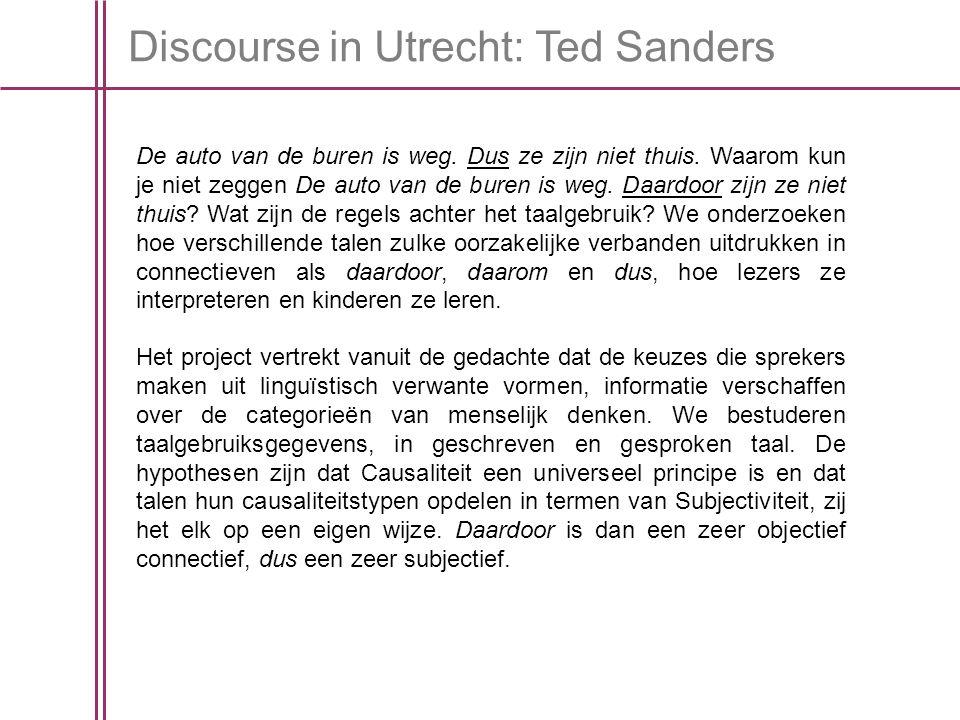 Discourse in Utrecht: Ted Sanders De auto van de buren is weg.