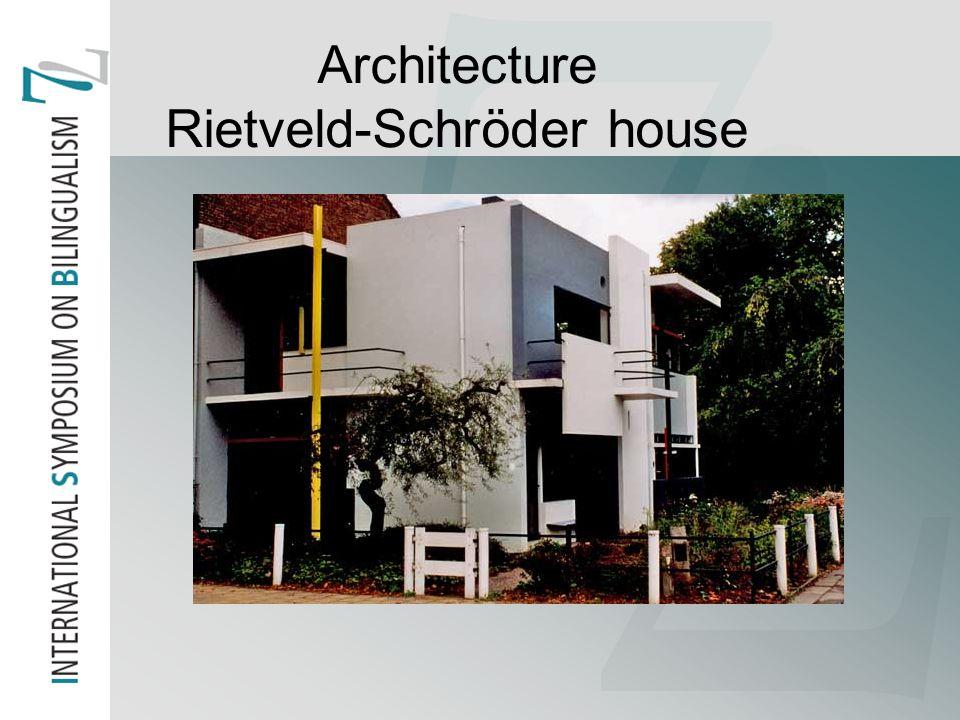 Architecture Rietveld-Schröder house