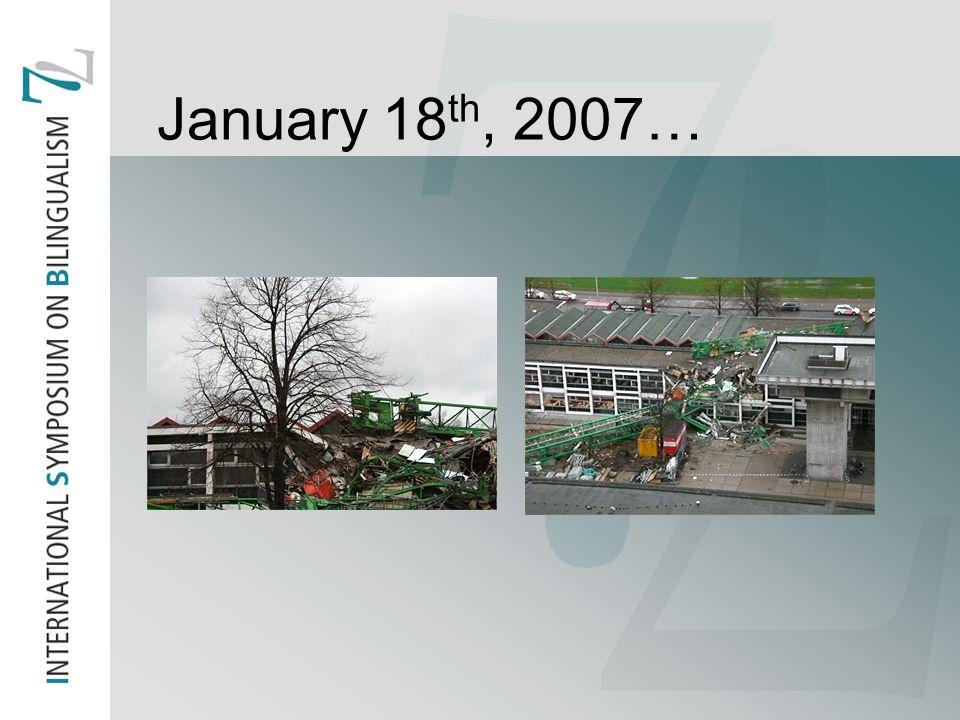 January 18 th, 2007…