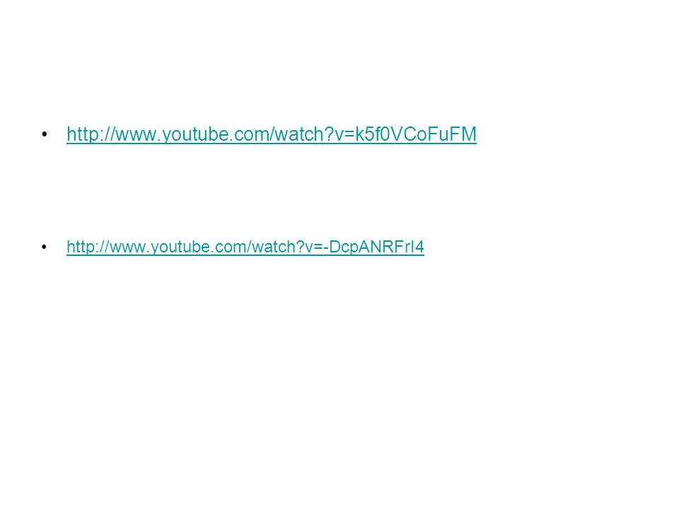 http://www.youtube.com/watch?v=k5f0VCoFuFM http://www.youtube.com/watch?v=-DcpANRFrI4
