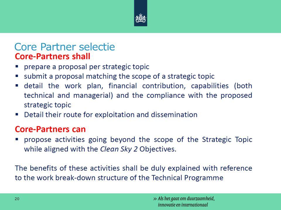 Core Partner selectie 20