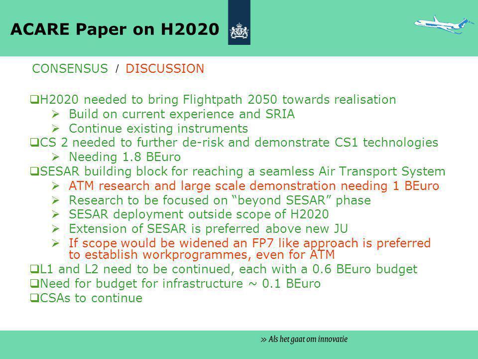 5b) Klankbordgroepen – Twee issues  Aansluiting / invloed van luchtvaart stakeholders op overheidsstandpunten thema Transport in Brussel  Invloed op andere thema's relevant voor luchtvaart