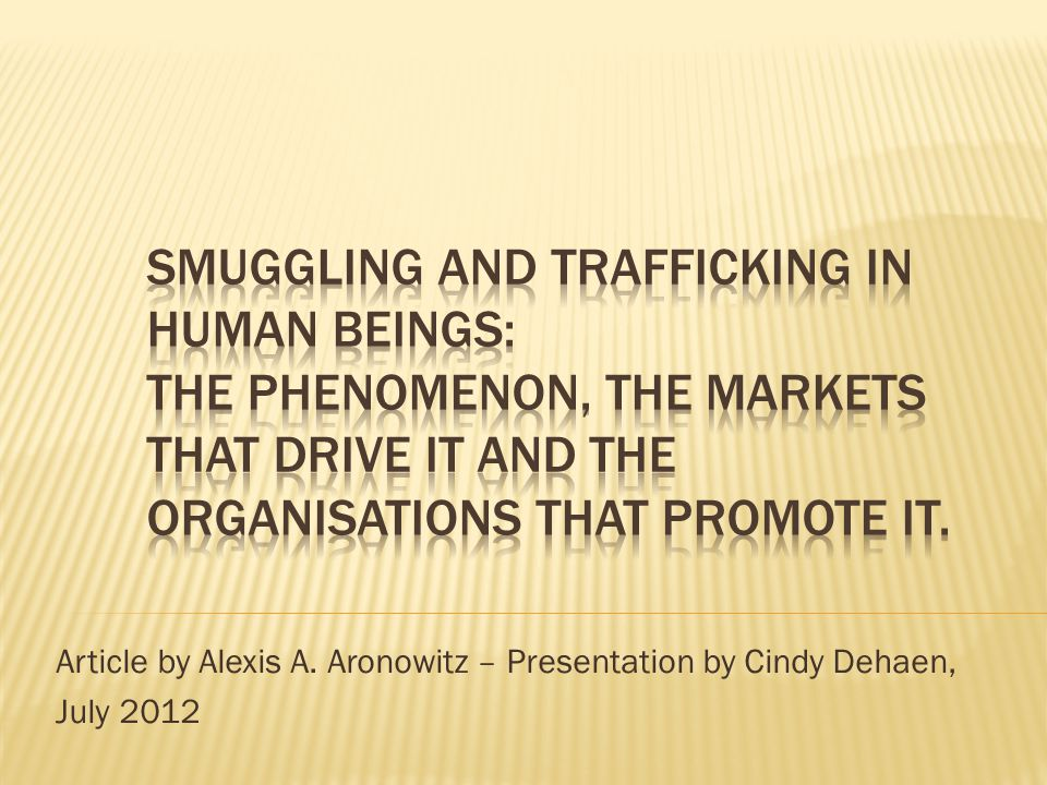 Article by Alexis A. Aronowitz – Presentation by Cindy Dehaen, July 2012