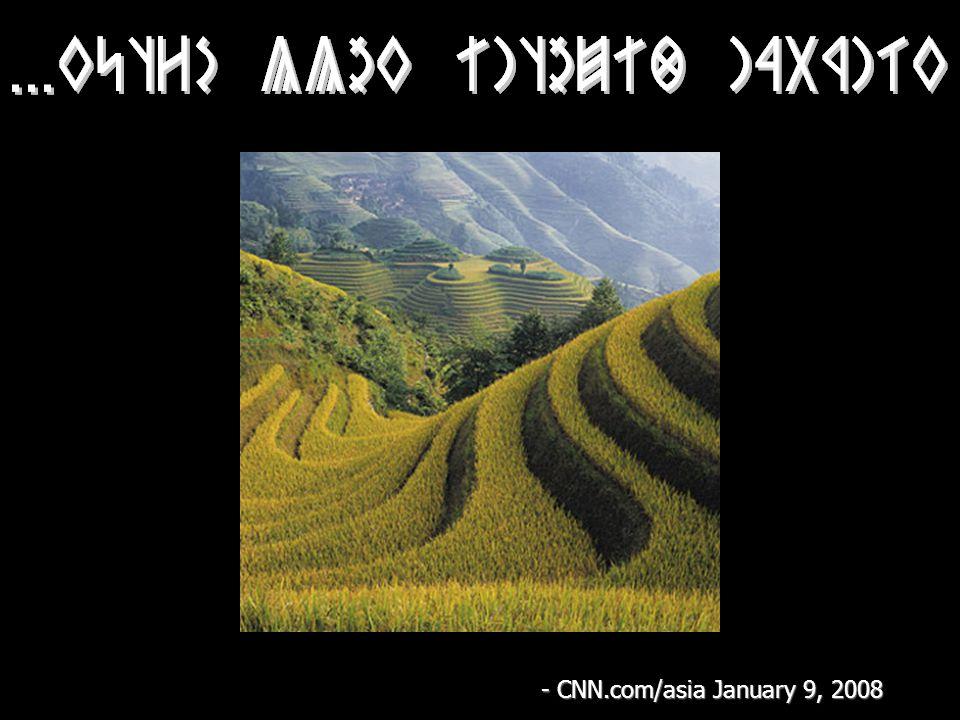 - CNN.com/asia January 9, 2008