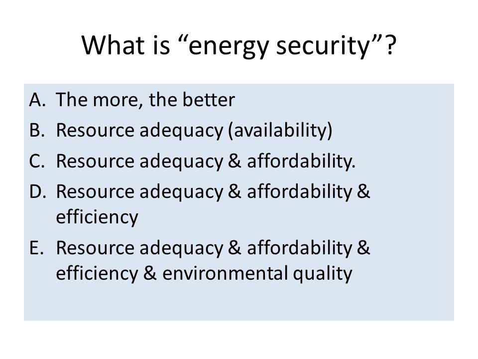 What is energy security .