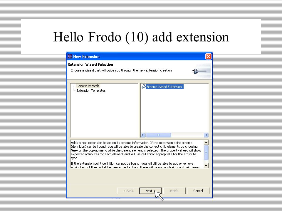 Hello Frodo (9) extensions page