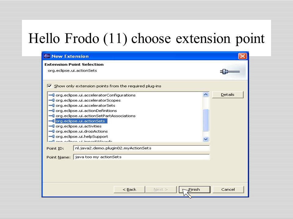Hello Frodo (10) add extension