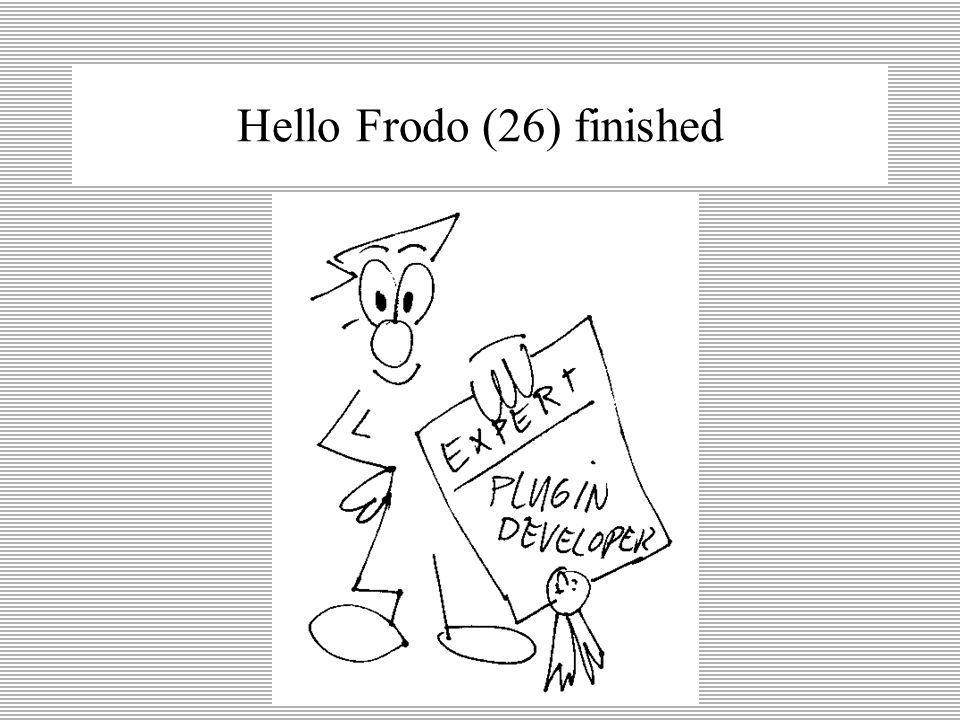 Hello Frodo (25) deploying plug-ins